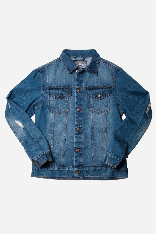 Cool Distressed Denim jacket for guys