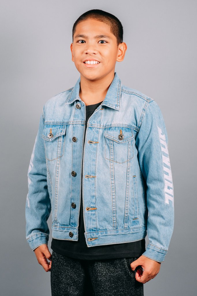 Boys' Savage Panel Denim Jacket