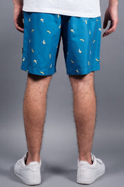 Brooklyn Cloth Men's Blue Banana Print Swim Shorts