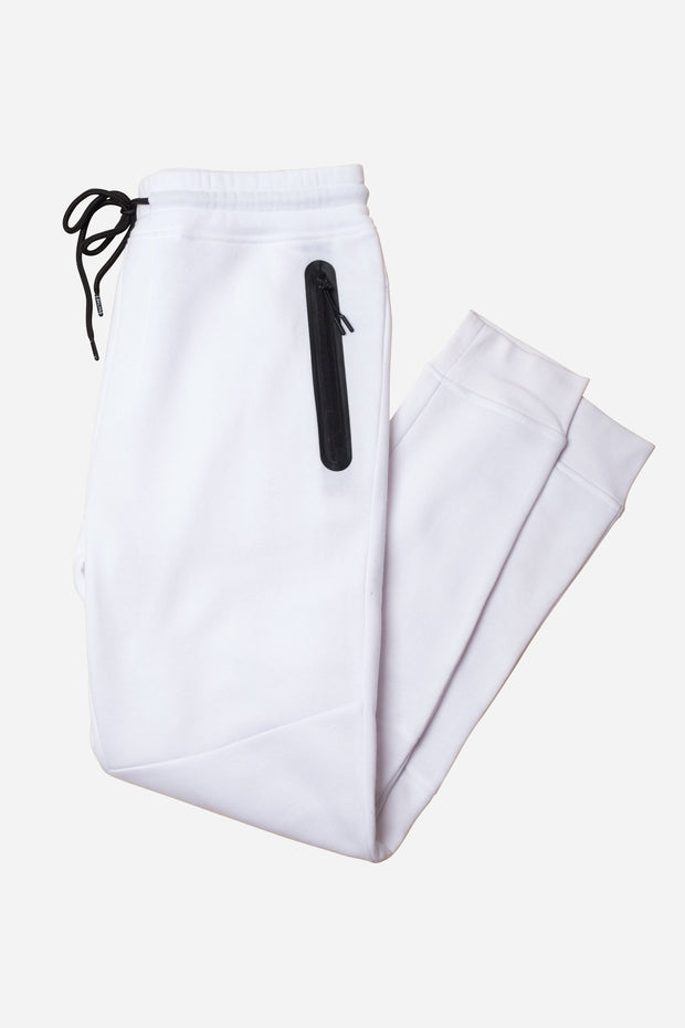 White Heat Seal Fleece Jogger Pants