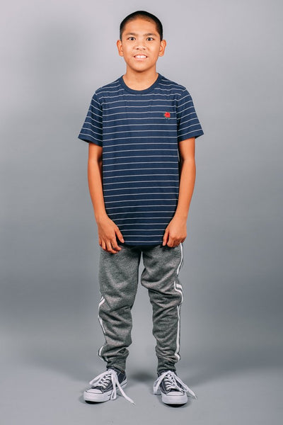 Brooklyn Cloth Boys Black Marl Varsity Jogger Pants