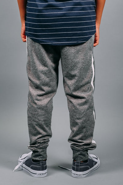 Boys Black Marl Varsity Jogger Pants at Brooklyn Cloth