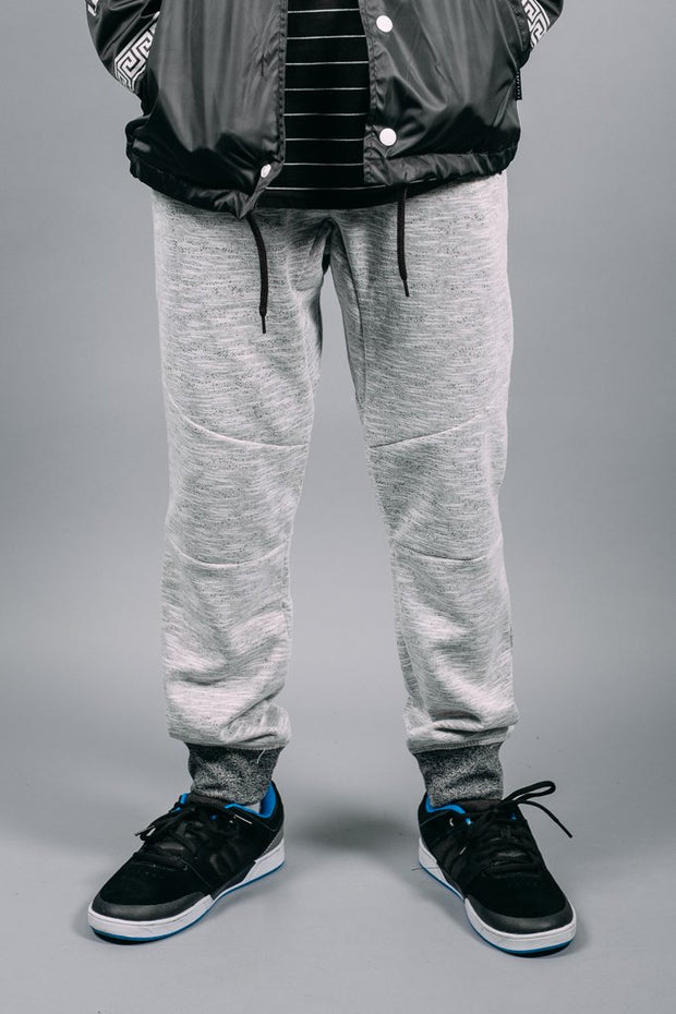 Boys White Knit Jogger Pants