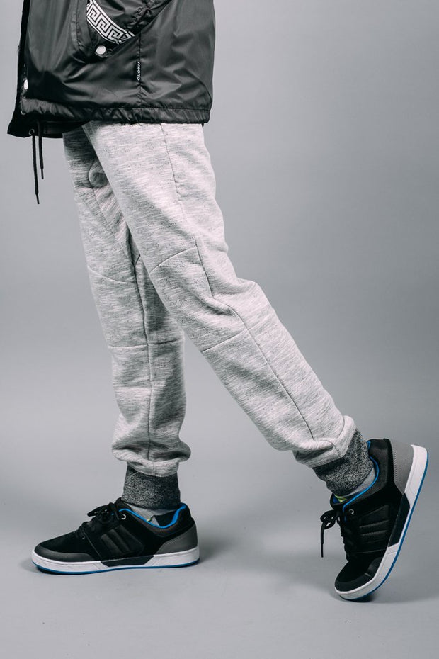 Boys White Fleece Jogger Pants