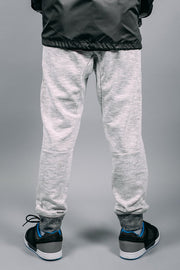 Boys White Knit Jogger Pants at Brooklyn Cloth