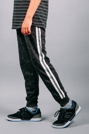 Boys Black Varsity Jogger Pants