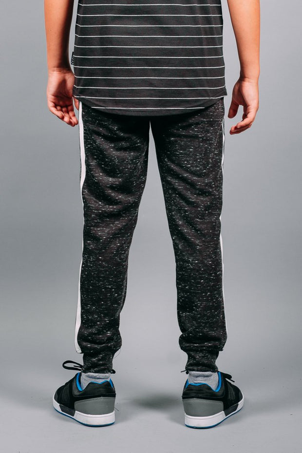 Boys Black Varsity Jogger Pants at Brooklyn Cloth