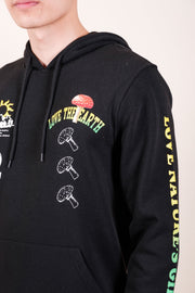 Men's Black Spiral Tie Dye T-Shirt
