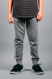 Boys Grey Fleece Jogger Pants