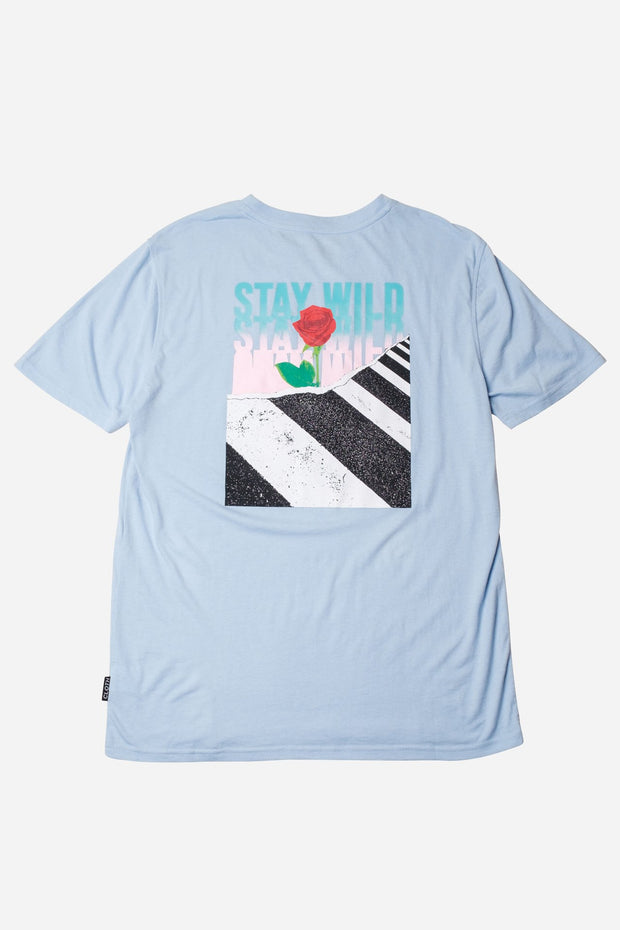 Dusty Blue Stay Wild Short Sleeve Tee