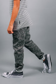 Boys Black Cozy Knit Jogger Pants