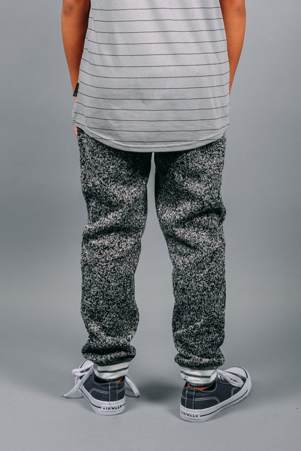 Boys Black Cozy Knit Jogger Pants from Brooklyn Cloth
