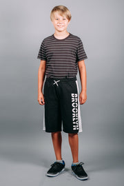 Brooklyn Cloth Boys Black Knit Basketball Shorts