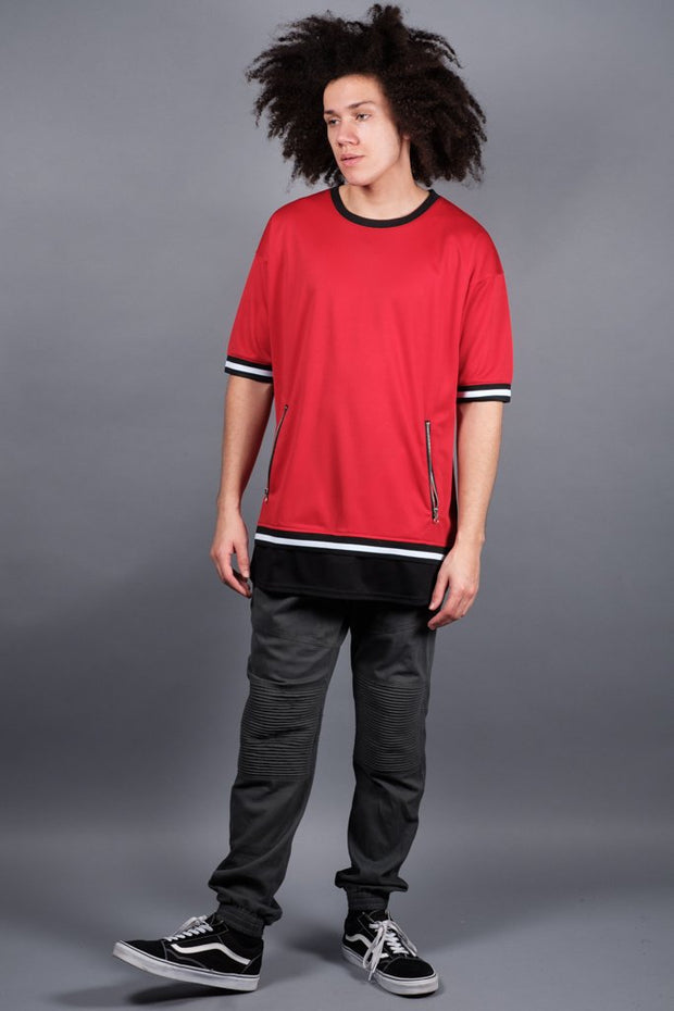 Red Mesh Tee available for Men online at Brooklyn Cloth