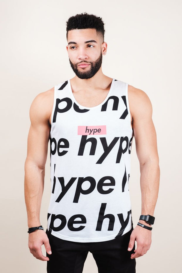 White Hype Tank Top for Men