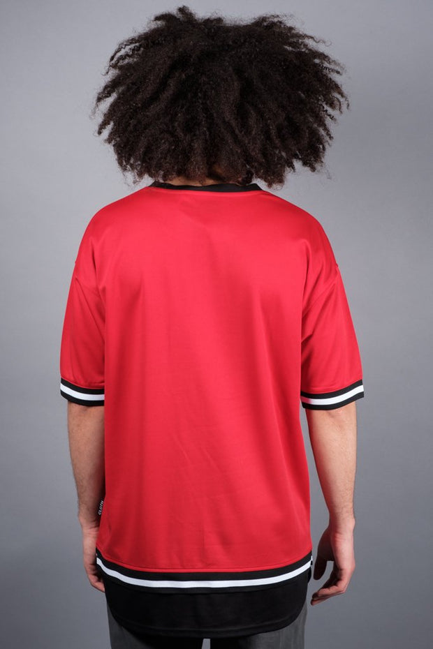 Brooklyn Cloth Red Mesh Tee for Men