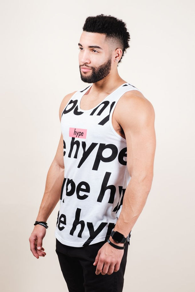 Men's White Hype Tank Top