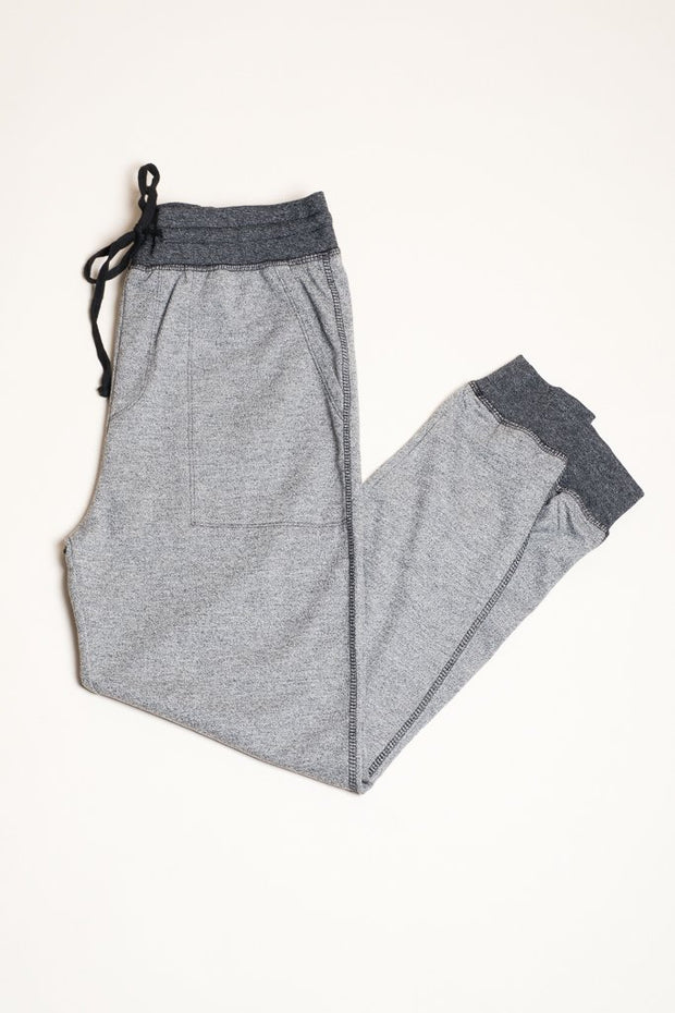 Black Marl Knit Jogger Pants