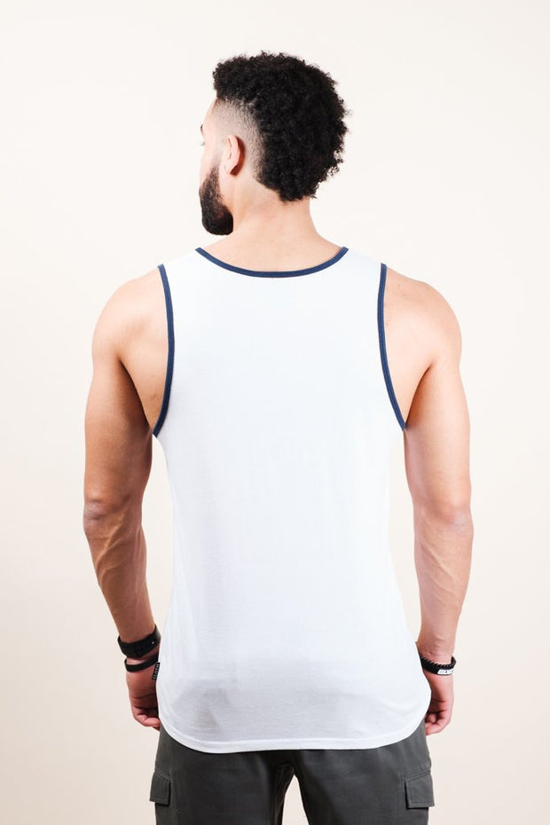 White Vibes Tank Top for Men