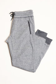 Boys Black Marl French Terry Zip Pocket Jogger