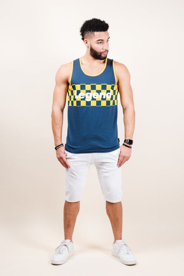 Mens Blue Legend Tank Top