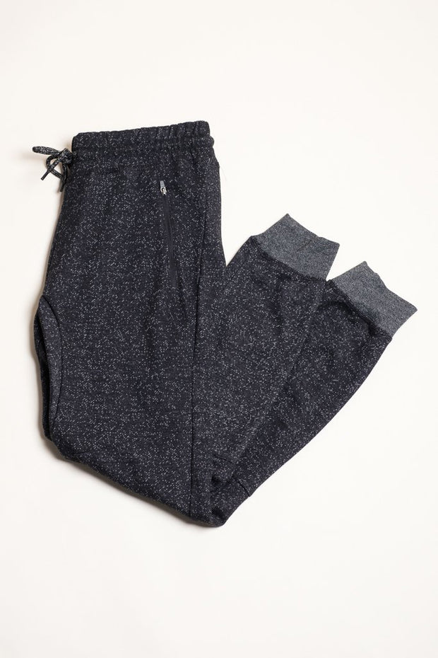 Onyx Marl Knit Jogger pants for Men