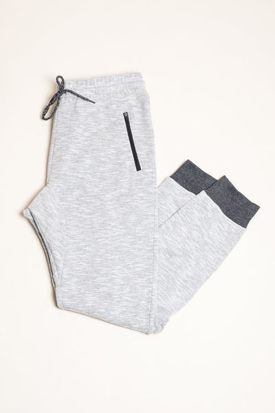 Men's White Speckled Streaky Jogger Pants