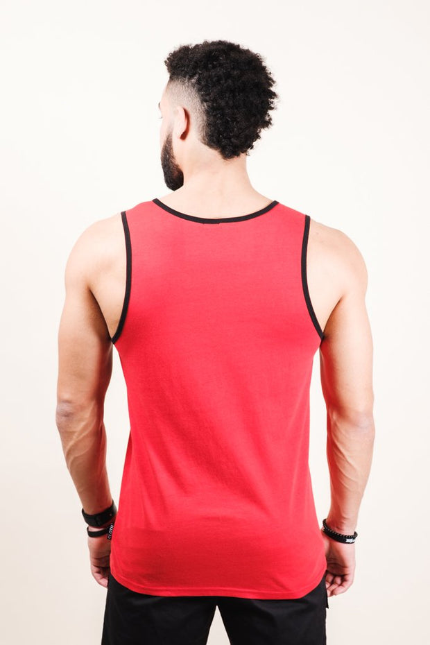 Red Hustle Tank Top for Men
