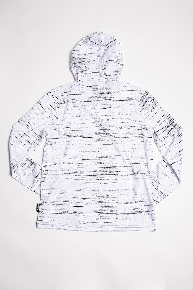 Boys White Streaky Jersey Hoodie at Brooklyn Cloth