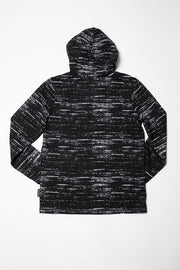 Boys Black Streaky Jersey Hoodie at Brooklyn Cloth