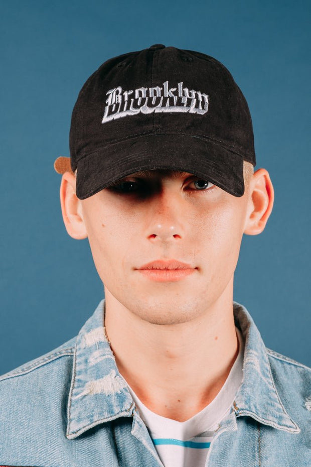 Black baseball hat from Brooklyn Cloth