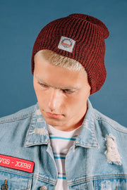 Burgundy beanie from Brooklyn Cloth for men