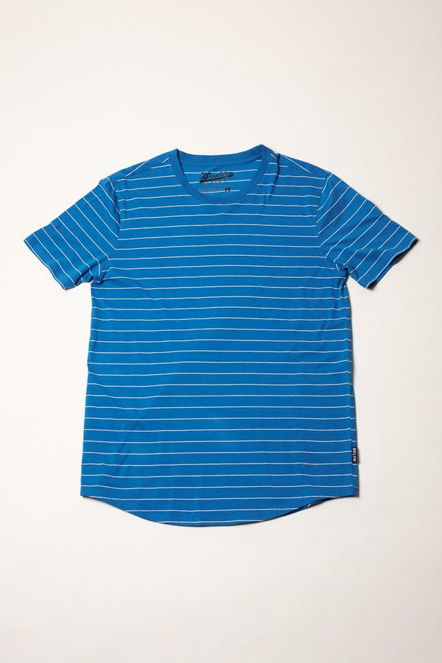 Royal Blue Striped Tee at Brooklyn Cloth