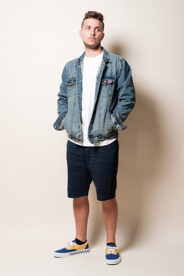 Brooklyn Cloth Blue Knit Shorts for Men