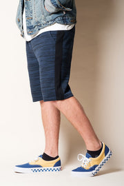 Ocean Side Stripe Fleece Shorts