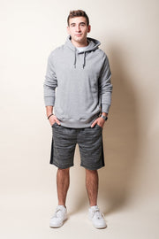 Brooklyn Cloth Black Side Stripe Fleece Shorts for Men