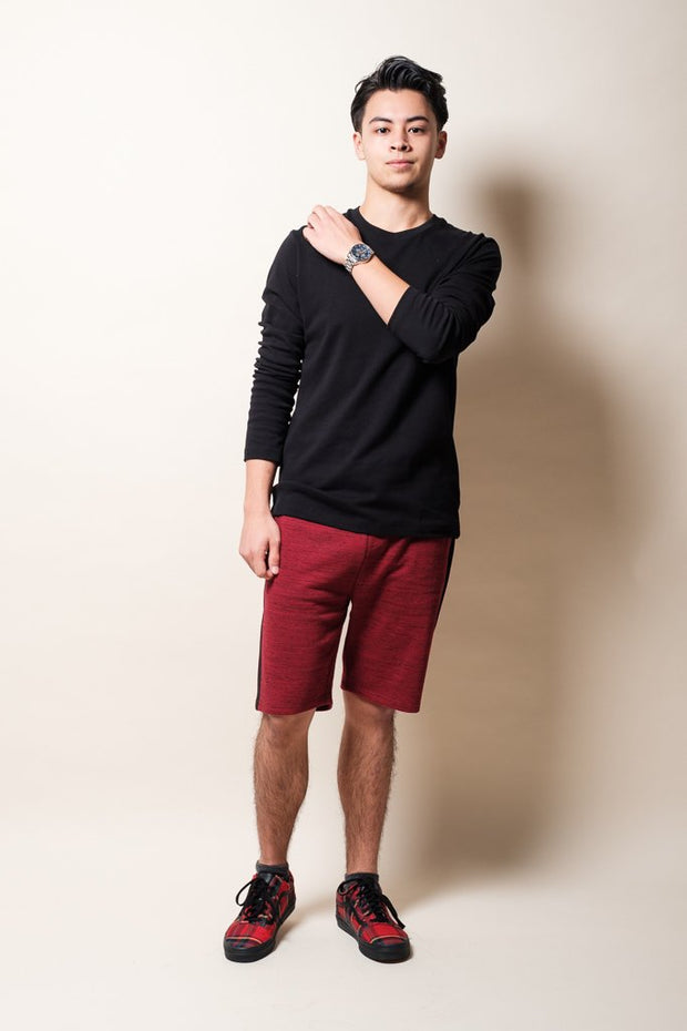 Brooklyn Cloth Burgundy Knit Shorts for Men