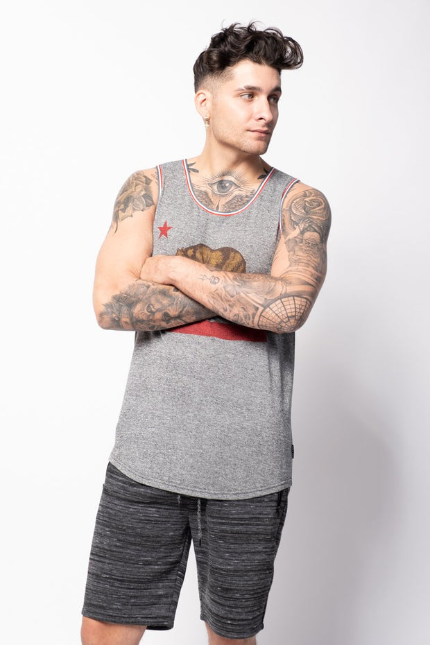 Red California Bear Tank Top