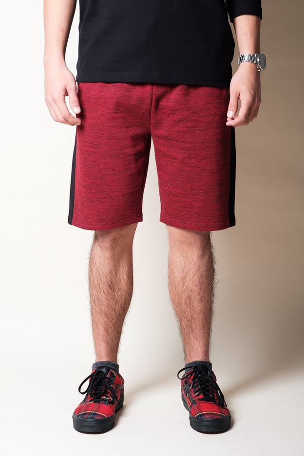 Burgundy Knit Shorts