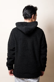 Brooklyn Cloth Black Sherpa Pullover Hoodie