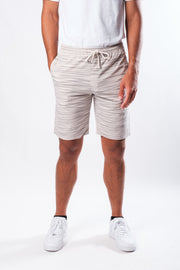 Black Thin Striped Poplin Shorts