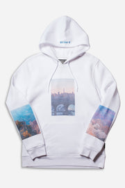 White Skyline Photo Hoodie