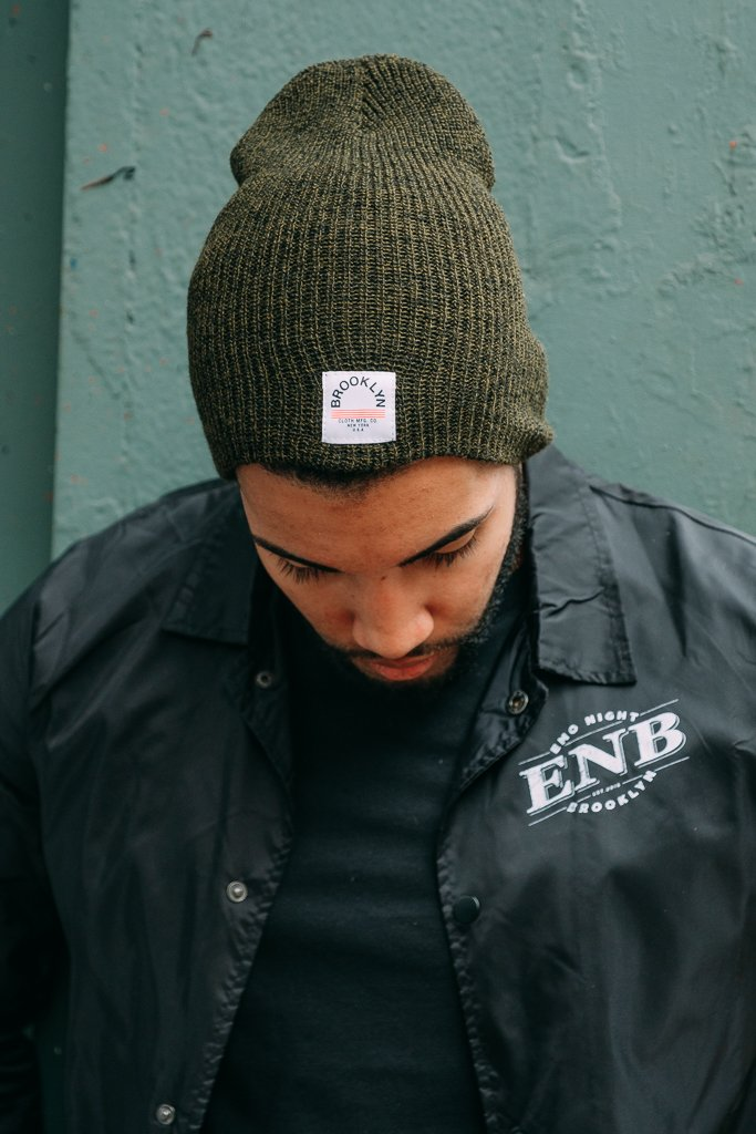 Exclusive Brooklyn Cloth Marl Beanies in Olive