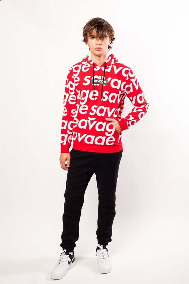Red Savage Repeat Hoodie