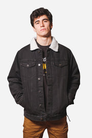 Black Sherpa Denim Jacket