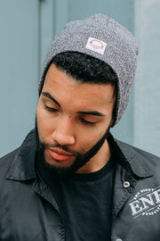 Beanie for Men in Black Marl