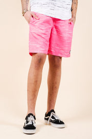 Men's Pink Streaky Swim Trunks