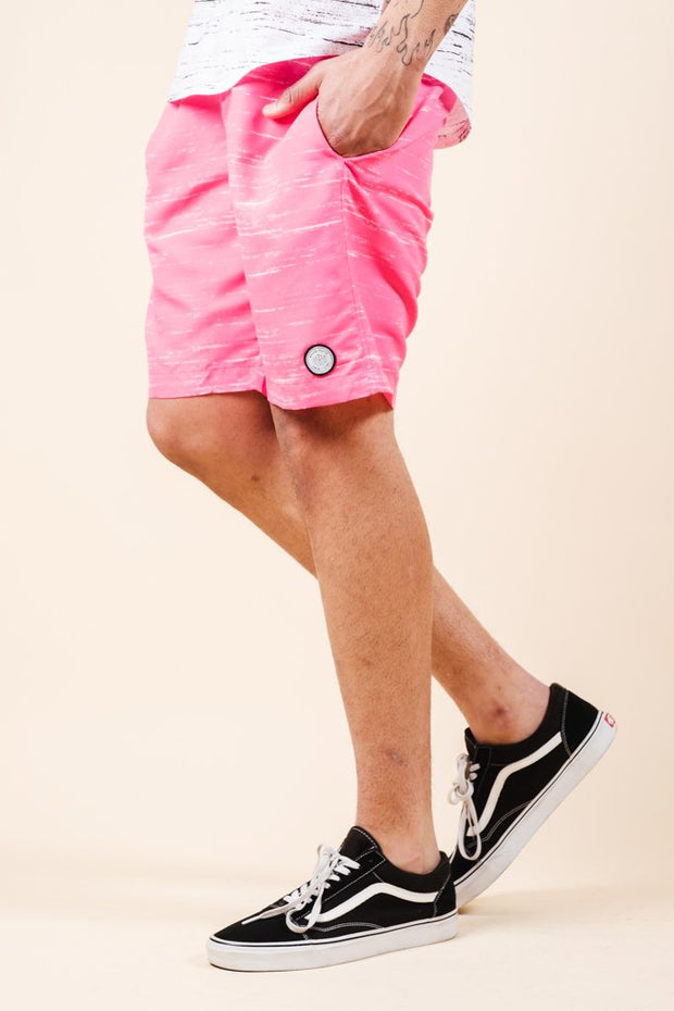Pink Streaky Swim Trunks