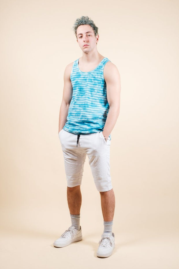Brooklyn Cloth Men's Blue Tie Dye Tank Top