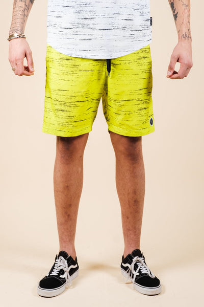 Men's Yellow Streaky Swim Trunks